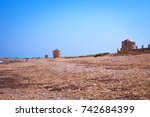 old mills on the beach | Shutterstock . vector #742684399