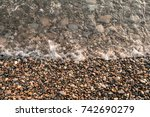 sea stones on the beach of the...   Shutterstock . vector #742690279