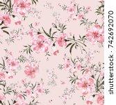 watercolor seamless pattern of... | Shutterstock . vector #742692070