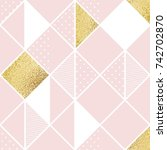 seamless pattern with pink ... | Shutterstock .eps vector #742702870