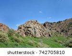 kelinshektau mountains  karatau ...   Shutterstock . vector #742705810