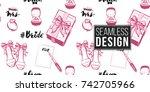 wedding illustration  seamless... | Shutterstock .eps vector #742705966