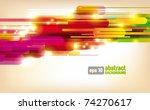 abstract colorful vector... | Shutterstock .eps vector #74270617