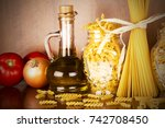 pasta in the jar  | Shutterstock . vector #742708450