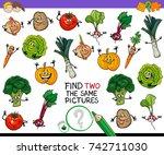 cartoon illustration of finding ... | Shutterstock . vector #742711030