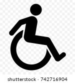 disabled icon  handicapped... | Shutterstock .eps vector #742716904
