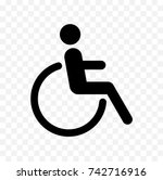disabled icon  handicapped... | Shutterstock .eps vector #742716916