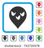 flora field marker icon. flat...   Shutterstock .eps vector #742720378