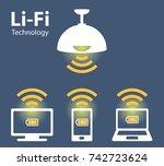 light fidelity  wireless... | Shutterstock .eps vector #742723624