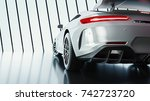 modern cars are in the studio... | Shutterstock . vector #742723720