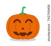 halloween pumpkin. vector... | Shutterstock .eps vector #742743400