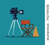 movie making process design... | Shutterstock .eps vector #742749358