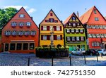traditional german buildings... | Shutterstock . vector #742751350