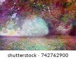 fantasy faerie tree landscape   ... | Shutterstock . vector #742762900
