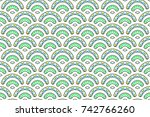 colorful textured seamless... | Shutterstock . vector #742766260