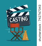 cool vector casting concept... | Shutterstock .eps vector #742767343