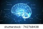human brain  plexus structure... | Shutterstock . vector #742768438