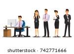 businessman character think ... | Shutterstock .eps vector #742771666