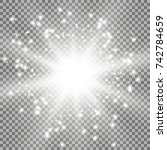 star burst with sparks  light... | Shutterstock .eps vector #742784659