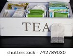 a white tea box with bags | Shutterstock . vector #742789030