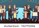 presidential election... | Shutterstock .eps vector #742791046