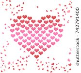 valentines day heart from hearts | Shutterstock . vector #742791400