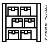warehouse storage vector icon | Shutterstock .eps vector #742793233