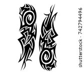 tribal pattern tattoo vector...   Shutterstock .eps vector #742794496