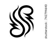 tattoo tribal vector design.... | Shutterstock .eps vector #742794640