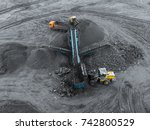 open pit mine  breed sorting.... | Shutterstock . vector #742800529