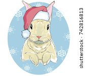 the christmas poster with the... | Shutterstock .eps vector #742816813
