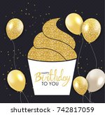 abstract happy birthday... | Shutterstock .eps vector #742817059