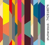 abstract color seamless pattern ... | Shutterstock . vector #742818874