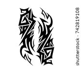 tattoo tribal vector designs.... | Shutterstock .eps vector #742819108