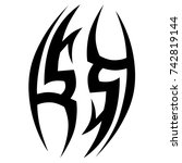 tattoo tribal vector design.... | Shutterstock .eps vector #742819144