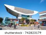 the peak  hong kong   jan 24 ... | Shutterstock . vector #742823179