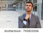 Funny Businessman Thinking...