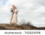 love  romance and people... | Shutterstock . vector #742824598