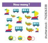 counting educational children... | Shutterstock .eps vector #742826338