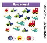 counting educational children... | Shutterstock .eps vector #742826404