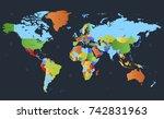 color world map | Shutterstock .eps vector #742831963