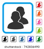 users icon. flat gray iconic... | Shutterstock .eps vector #742836490