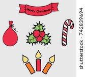 holiday icons  patches ... | Shutterstock .eps vector #742839694
