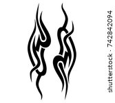 tattoo tribal vector design.... | Shutterstock .eps vector #742842094
