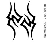 tattoo tribal vector design....   Shutterstock .eps vector #742842148