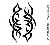 tattoo art tribal vector design.... | Shutterstock .eps vector #742842196