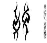 tattoo tribal vector design.... | Shutterstock .eps vector #742842208