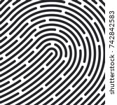 fingerprint pattern. vector... | Shutterstock .eps vector #742842583
