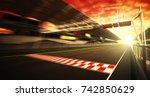 Golden hour motion blur race...