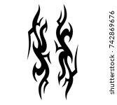 tattoos ideas designs   tribal... | Shutterstock .eps vector #742869676